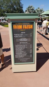 F&W2015 Farm Fresh Menu