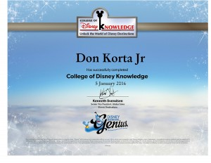 Disney 2016 Annual Assesment - Don Korta Jr