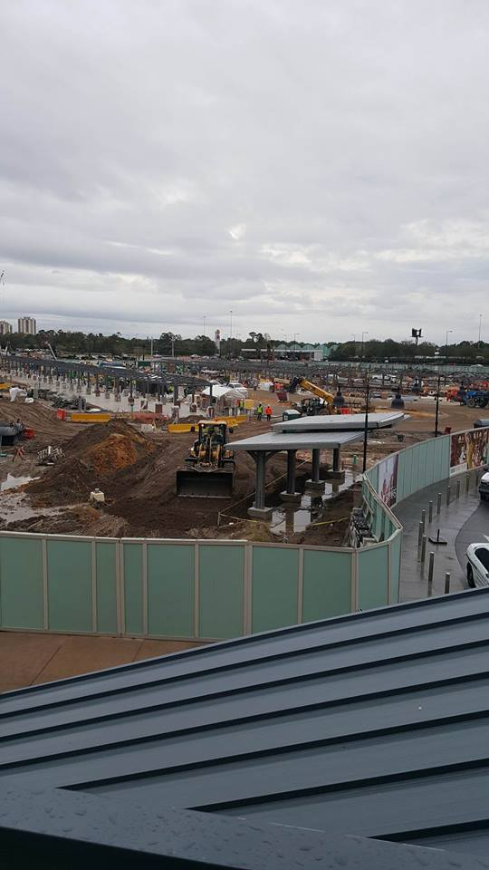 Disney Springs Bus Stop Construction 1
