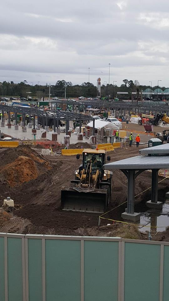 Disney Springs Bus Stop Construction 2