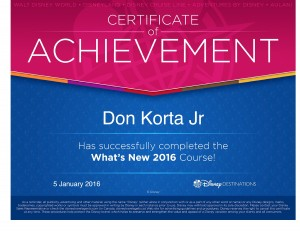 Disney Whats New 2016 - Don Korta Jr