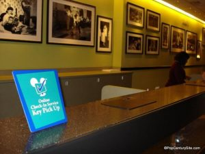 Disney's Pop Century Online Check-In desk