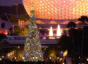 Epcot Christmas Tree