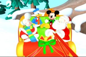 Mickey and Donald in Santas Sleigh