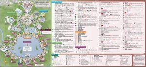 2016 Epcot International Food & Wine Festival Map