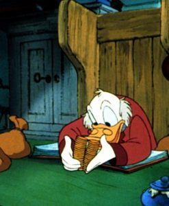 Scrooge McDuck Counting Money