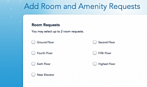 WDW Room Requests