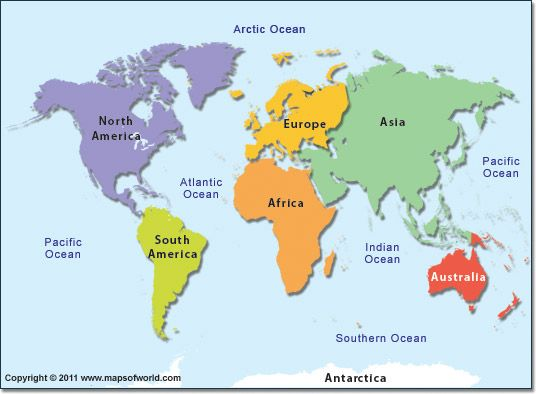 Why You Should Travel To All Seven Continents Destinations With - List of continents in the world
